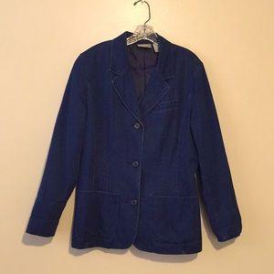 Vintage Liz Claiborne Lizwear Denim Blazer